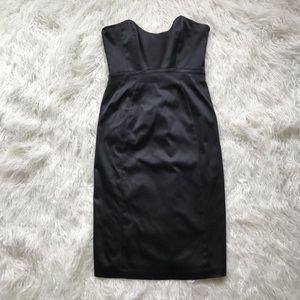 LAUNDRY BY SHELLI SEGAL BLK BODYCON STRAPLESS 👗